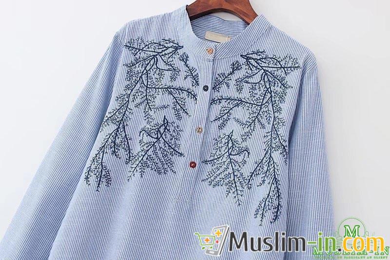 Lang shirt met strepen en patronen 2