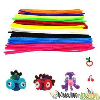 Lot of 100 colorful ribbons DIY