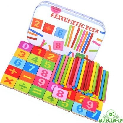 Colorful sticks math - Montessori