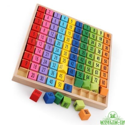 Multiplication table and math wood - Montessori
